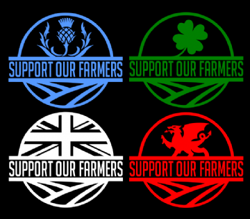 Support Our Farmers Vinyl Cut Decal
